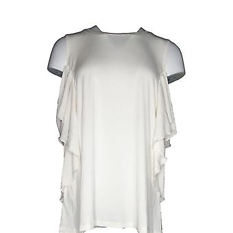 G.I.L.I. got it love it Women's Plus Top Cold Shoulder Ivory A290180