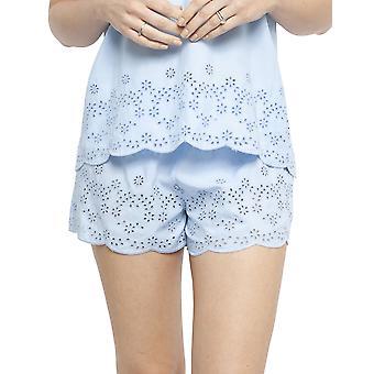 Cyberjammies 4403 Frauen's Olivia Blau Modal bestickt Pyjama Kurz