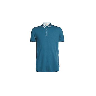 Ted Baker Men's Teal Teacups Short Sleeved Polo