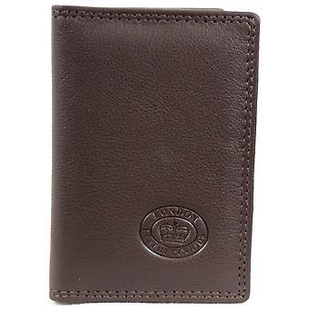 Mens / Ladies Leather Credit Card Holder / Travel Card Holder / ID Case - Black