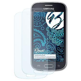 Bruni 2x Pellicola Protettiva compatibile con Samsung Galaxy Trend Lite GT-S7390 Proteggi Schermo