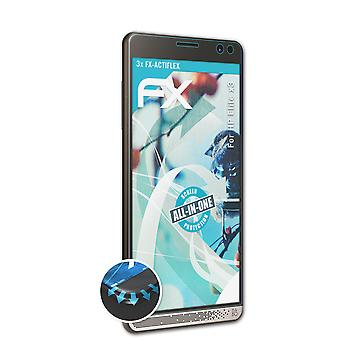 atFoliX 3x Protective Film compatible with HP Elite x3 Screen Protector clear&flexible