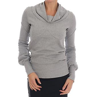 Exte Gray Cotton Top Pullover Sweater