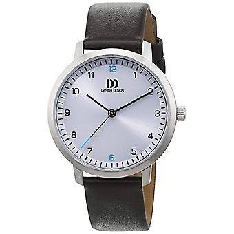 Se brunt lær remen kvarts Analog viser dansk Design og en sølv ring 3324601