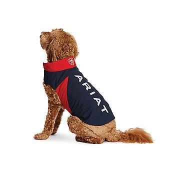 Ariat Team Softshell Dog Coat/jacket - Marine/rouge