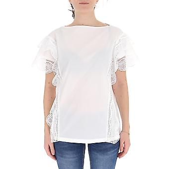 Alberta Ferretti 02341626a0001 Women's White Silk Blouse
