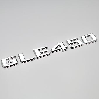 Silver Chrome GLE450 Flat Mercedes Benz Car Model Rear Boot Number Letter Sticker Decal Badge Emblem For GLE Class W166 C292 AMG