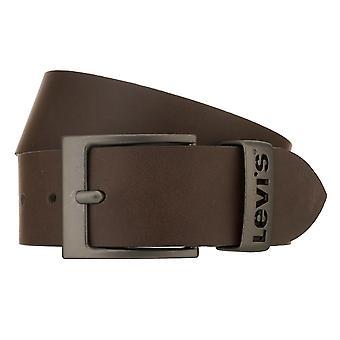 Cinturón de Levi Hombres Cinturón de Cuero Jeans Cinturón Marrón 8529