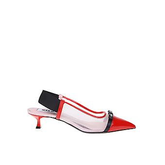 Msgm 2841mds084733818 Women's Red Patent Leather Pumps