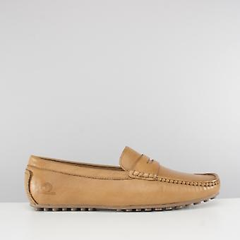Chatham Toga Mens Leather Moccasin Driving Shoes Tan