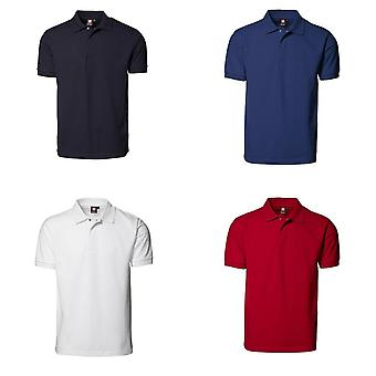 ID Mens Pro slijtage Press Stud Regular passend poloshirt korte mouw