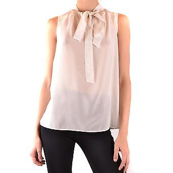 Boutique Moschino Ezbc1700019 Women's White Silk Top