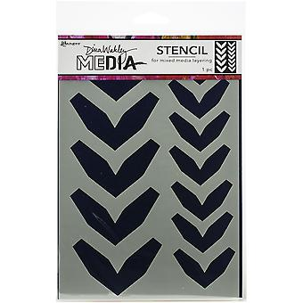 "Dina Wakley Media Stencils 9""X6"" - Large Fractured Chevrons"