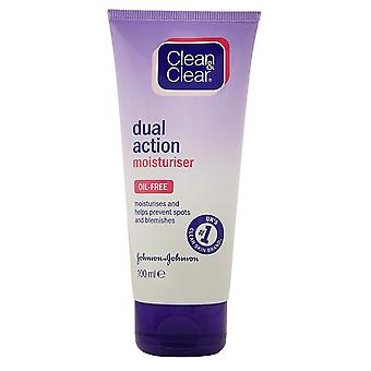 Johnson and Johnson Clean and Clear Dual Action Moisturiser 100ml