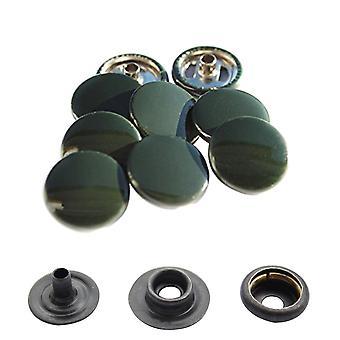 Dark Green 15mm 4-Part Press Studs, Snap Fasteners