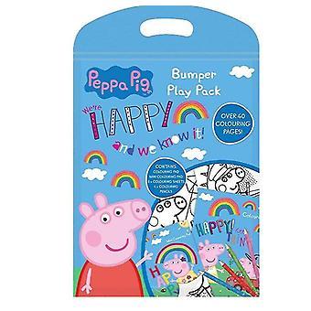 Peppa Pig Greta Pig Bumper Play Pack Färbung Buch & Farbe Stifte