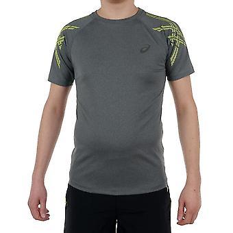 アシックスストライプSSトップ1411990773ユニバーサルオールイヤーメンTシャツ
