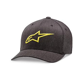 Alpinestars Ageless Curve Cap in Charcoal Heather/Hivis Yellow