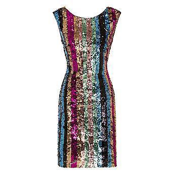 Girls On Film Womens/Ladies Aion Sequin Stripe Dress