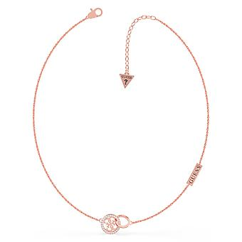 Guess UBN79046 Women's Rose Gold Tone Equilibre Necklace