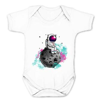 Reality glitch spaceman asteriod kids babygrow