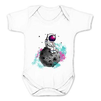 Reality glitch spaceman sterretje kinderen babygrow