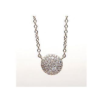 Diamond Collier Necklace - 18K 750/- Red Gold - 0.26 ct. - 4B193R8-2