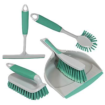 Charles Bentley et Brights-apos; Kitchen Bundle Dustpan et Brush Washing Up Mint Green