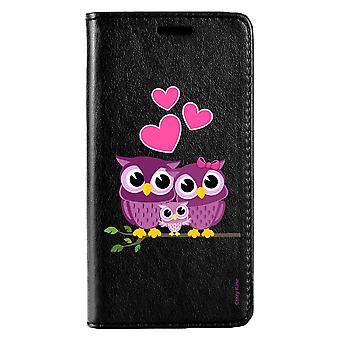Kotelo Huawei P20 Lite Musta Perhe Pattern Pöllö