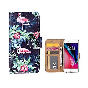 FONU Bücherregal Fall Flamingo's iPhone 8 Plus / 7 Plus