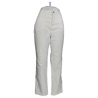 Denim & Co. Damen's Jeans Classic Denim Distressed Knöchel weiß A304475 #1