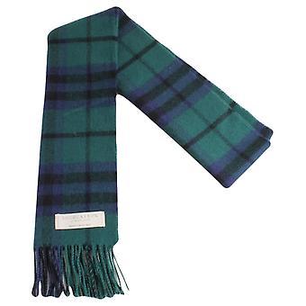Locharron of Scotland Austin Modern Lambwool Scarf - Dark Green/Navy/Black