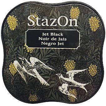 Midi StazOn encre Pad-Jet Black