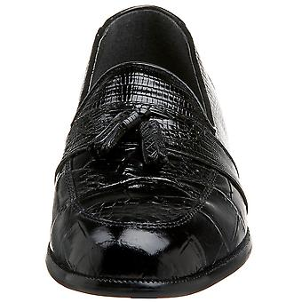 Stacy Adams Mens 23121-03 Snakeskin Closed Toe Penny Loafer