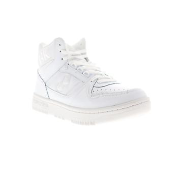 British Knights Kings SL Mens White Leather Mid Top Lifestyle Sneakers Shoes