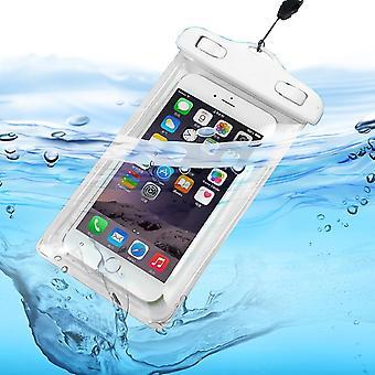 Samsung Galaxy A51 5G (weiß) wasserdichter Touchscreen Trockentasche Handy Tasche Abdeckung Schutz
