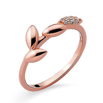 Orphelia Silver 925 Ring withCubic zirconia Rose gold plated