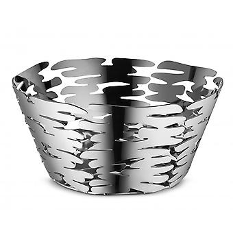 Alessi 21cm Barket Round Basket/Fruit Bowl - Stainless Steel