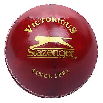 Slazenger Kids Pro Cricket Ball Allum Tanned Leather Outer Moulded Cork Core