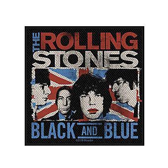 Il Rolling Stones Patch Nero e Blu Band Logo nuovo ufficiale