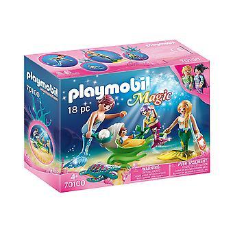 Playmobil 70100 Magic Family avec poussette Shell