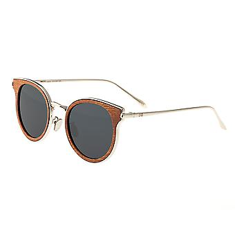 Earth Wood Derawan Polarized Sunglasses - Red Rosewood/Black