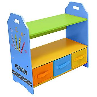 Kiddi Style Crayon Storage Unit With 3 Boxes