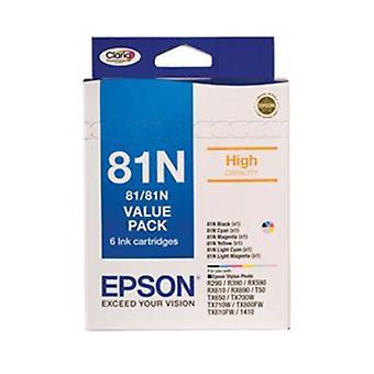 Epson 81N Bundle Pack 6 High Capacity Inks T111192 T111692