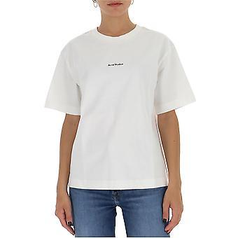 Acne Studios Al0149optikvit Kvinnor's White Cotton T-shirt
