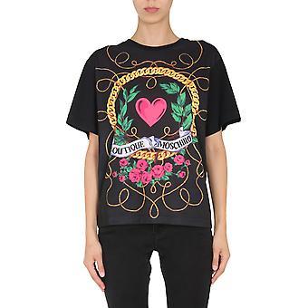 Boutique Moschino 120561405555 Dames's Zwart Katoen T-shirt