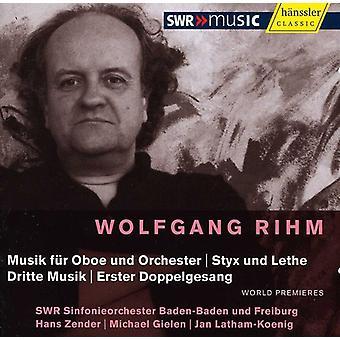 W. Rihm - Wolfgang Rihm: Musik F R Oboe Und Orchester; Styx Und Lethe; Dritte Musik; Erster Doppelgesang [CD] USA import