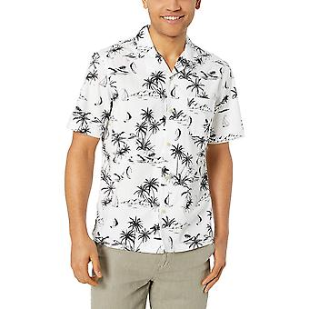 28 Palms Men's Relaxed-Fit 100% Coton, Blanc/Noir Scenic, Taille XX-Large