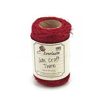 20m Ruby Red Jute Twine String for Crafts | Twine Cord & Elastic for Crafts