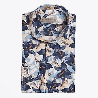 John Miller  - Floral Print Shirt - Blue/Multi